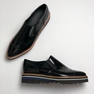 Vince Alona slip on patent leather Oxford